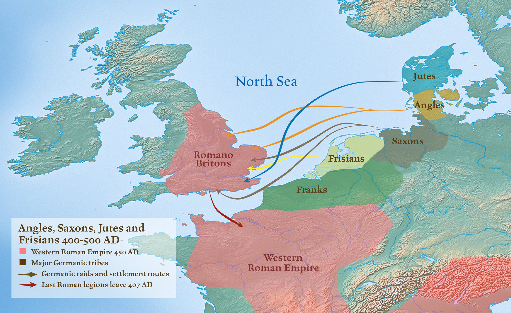 Map Of England 450 Ad.Maps The History Of English Podcast
