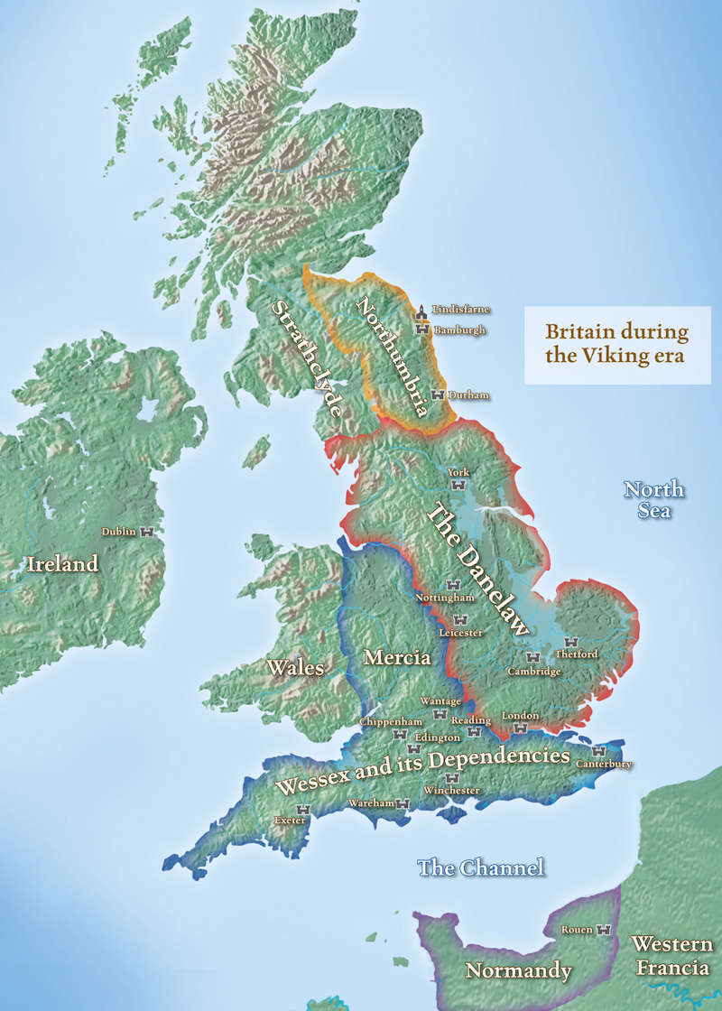 Map Of Old England Wessex.Maps The History Of English Podcast